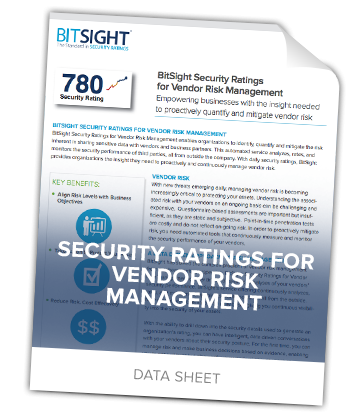 Third Party Risk Management with Security Ratings