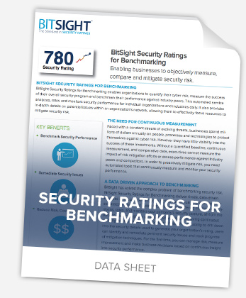 Security Ratings for Benchmarking